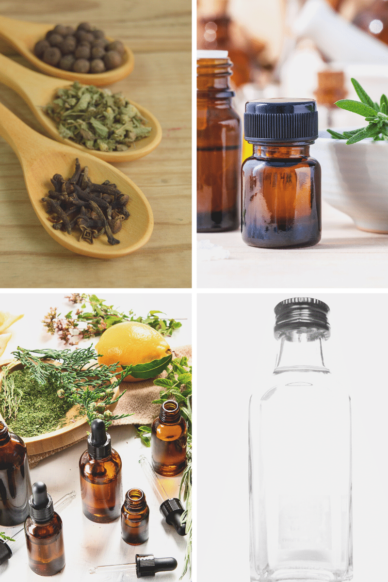 Safe cleaning ingredients alcohol cloves essential oils