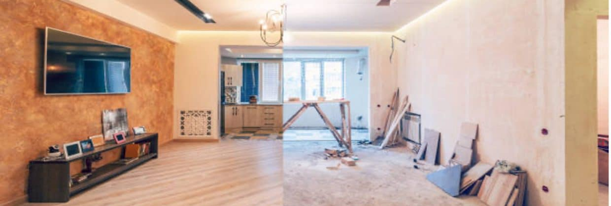 before-and-after-post-renovation-living-room-wooden-floors-big-tv-photo-
