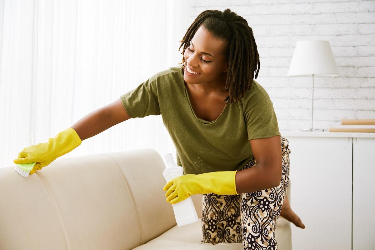 Uphostery and throw pillows should be cleaned to prevent dust mites.